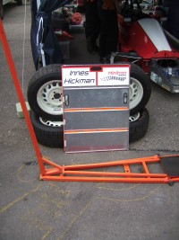Pit board and tyres